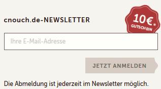 cnouch Newsletter Anmeldung