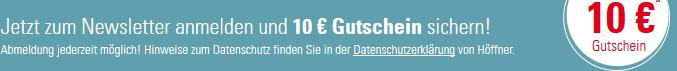 10€ Newsletter Gutschein