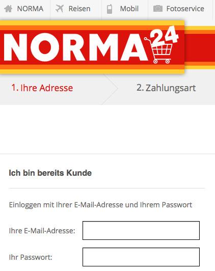 Norma24 Registrierung