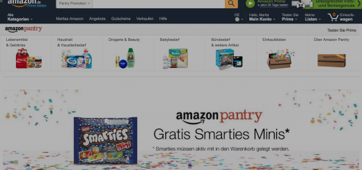 Amazon Pantry Gutschein